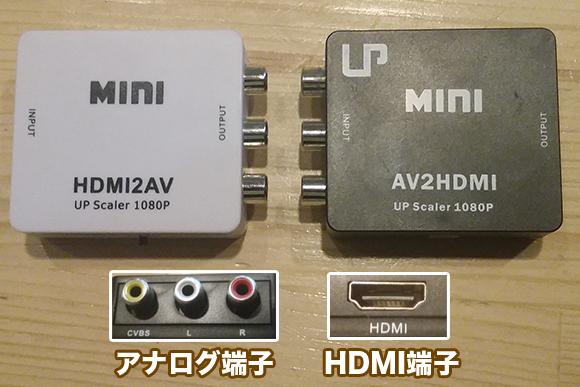AV to HDMIコンバータ/HDMI to AVコンバータ