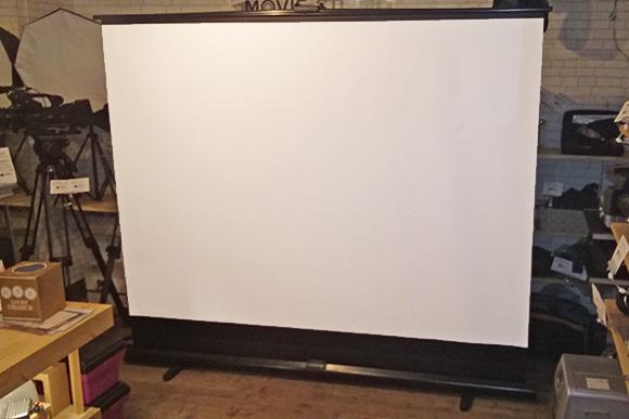 100インチ床置きタイプスクリーン GML-100W