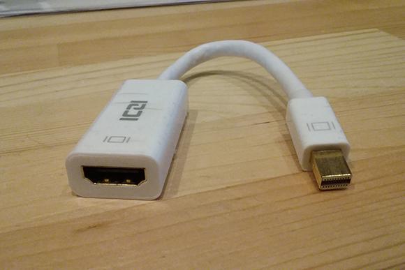 Mini DisplayPort - HDMI変換アダプタ